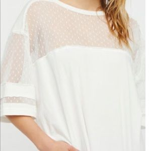 Free people loose white top